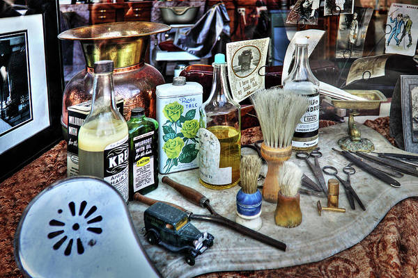 Photograph - Barber Shop Tools by James Eddy