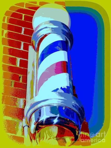 Wall Art - Photograph - Barber Shoppe Pole by Ed Weidman
