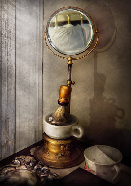 Photograph - Barber - The Morning Shave  by Mike Savad