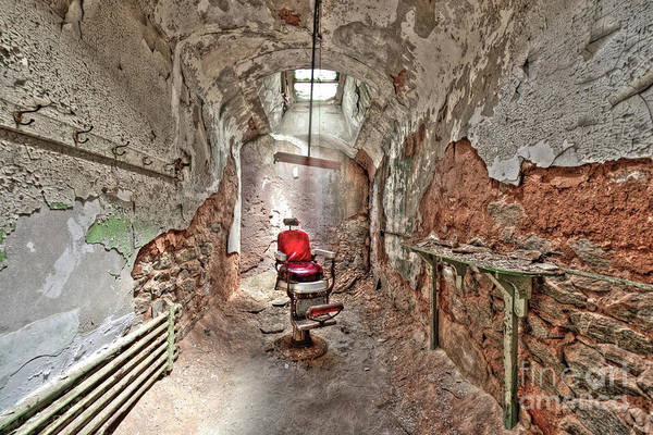 Photograph - Barbers Chair Eastern State Penitentiary by Anthony Sacco