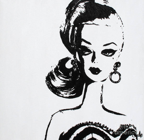Warhol Painting - Barbie by Christine Paint it Black