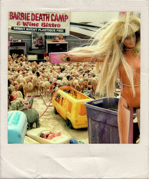 Concentration Camp Photograph - Barbie Death Camp by Dominic Piperata