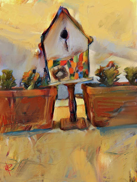 Cactus Mixed Media - Barb's Bird House by Russell Pierce