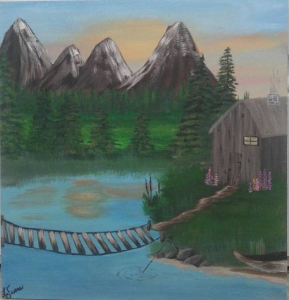 Adirondack Mountains Painting - Barbs Place by Lori Lafevers