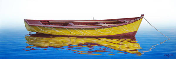 Fishing Boat Painting - Barca Amarilla by Horacio Cardozo