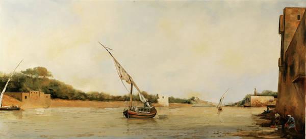 Master Wall Art - Painting - barca sul Nilo by Guido Borelli