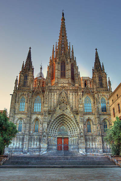 Photograph - Barcelona Cathedral by Peter Kennett
