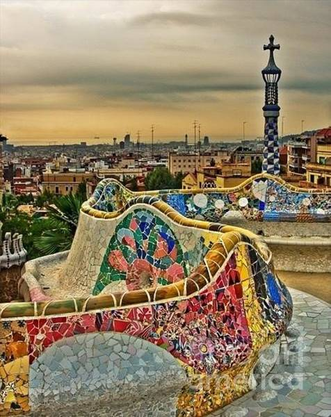 Painting - Barcelona Dream - Parc Guell by Susan Hendrich