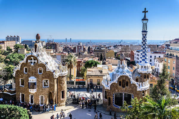 Photograph - Barcelona From Park Guell  by Randy Scherkenbach