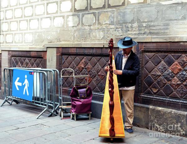Photograph - Barcelona Harp by John Rizzuto