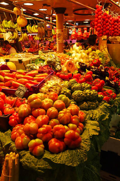 Photograph - Barcelona Market La Rambla Spain by Toby McGuire