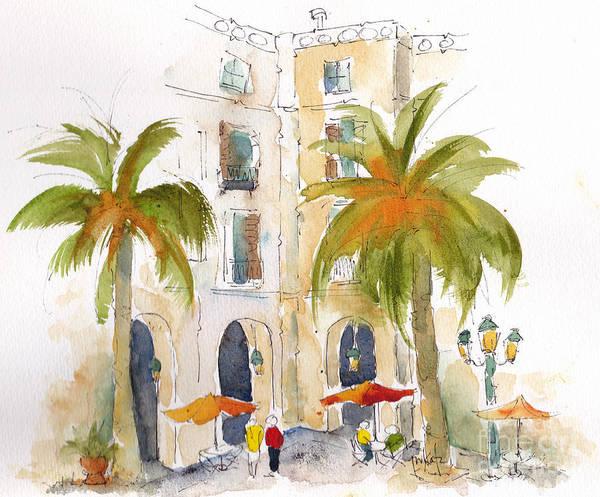 Painting - Barcelona Plaza by Pat Katz