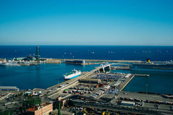 Wall Art - Photograph - Barcelona Port From Montjuic by Pati Photography