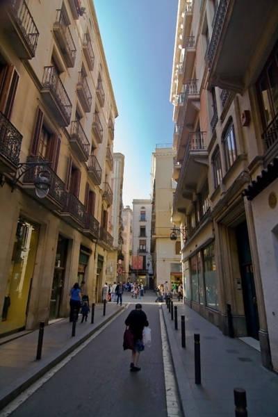 Photograph - Barcelona Street Scene by Sven Brogren