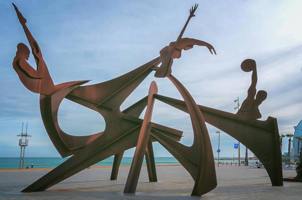 Photograph - Barceloneta Olympic Sculpture by Joan Carroll