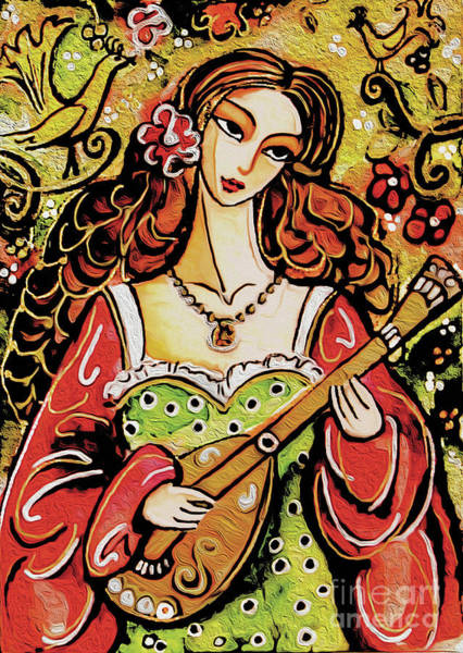 Painting - Bard Lady by Eva Campbell