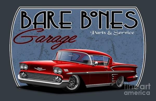 Wall Art - Digital Art - Bare Bones Impala by Paul Kuras