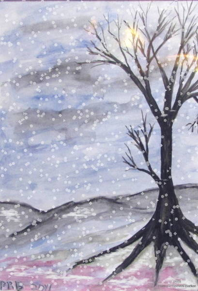 Prb Mixed Media - Bare Winter Mix by Pamula Reeves-Barker