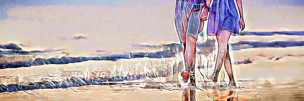 Digital Art - Barefoot In The Sea by Pennie McCracken