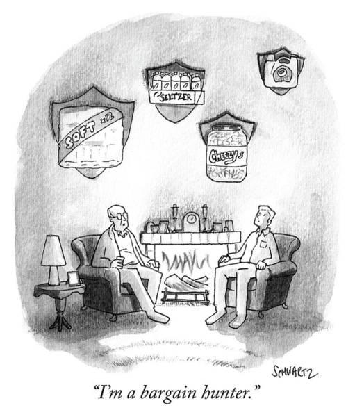 Sales Drawing - Bargain Hunter by Benjamin Schwartz