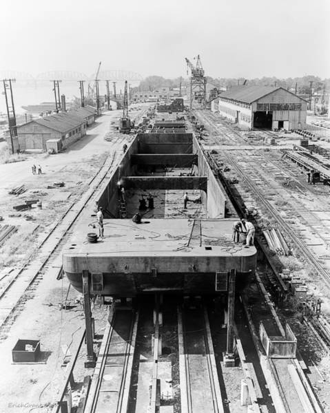 Photograph - Barge Construction by Erich Grant