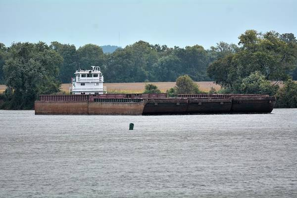 Photograph - Barge On Tennessee River At Shiloh National Military Park by WildBird Photographs