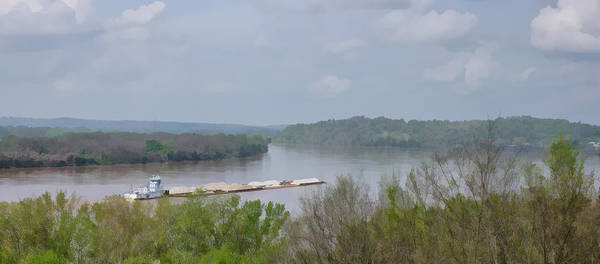 Photograph - Barge On The Ohio River by Sandy Keeton