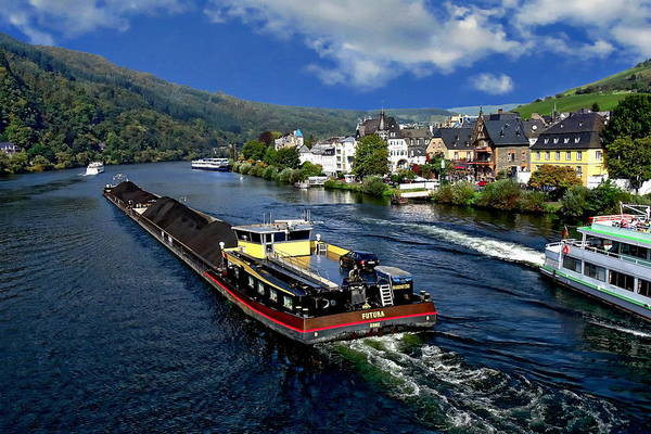 Photograph - Barge Traffic by Anthony Dezenzio