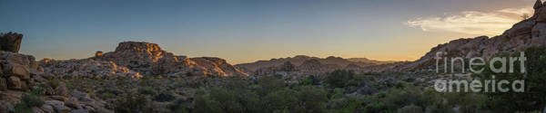 Tree Climbing Photograph - Barker Dam Hiking Trail Sunset Pano by Michael Ver Sprill