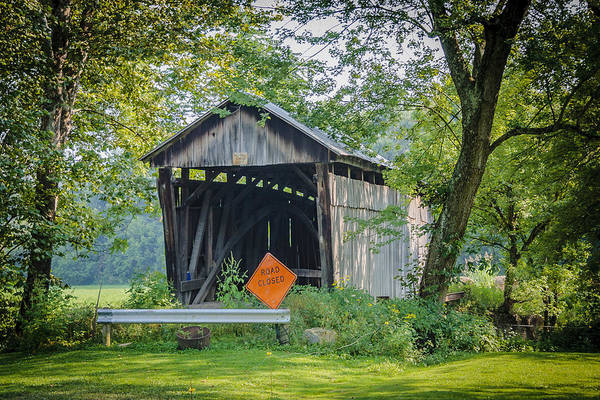 Photograph - Barkhurst Covered Bridge  by Jack R Perry