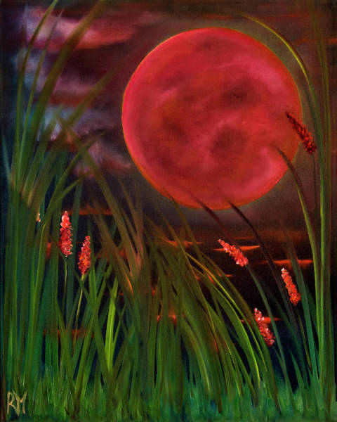 Barley Painting - Barley Spike Moon by Rolly Mouchaty
