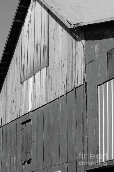Photograph - Barn Abstract Black And White by Karen Adams