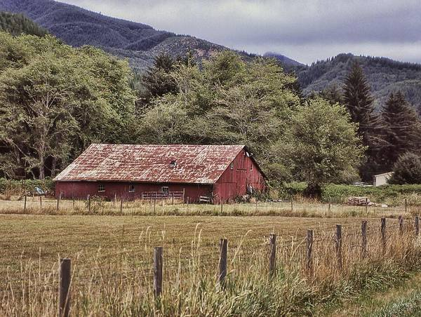 Photograph - Barn Along A Back Road by HW Kateley