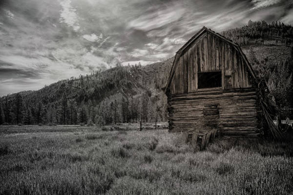 Photograph - Barn And Clouds by David Disponett