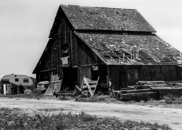 Photograph - Barn And Dodge Truck by Gene Parks