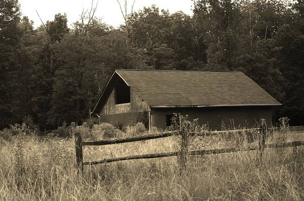 Photograph - Barn And Fence by Buddy Scott