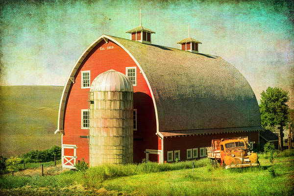 Photograph - Barn And Silo. by Usha Peddamatham