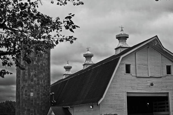Photograph - Barn And Silos by George Taylor