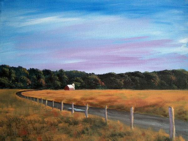 Fencepost Painting - Barn At Beaver Dam by Denise   Hoff