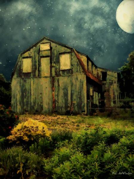 Painting - Barn By The Beach by RC DeWinter