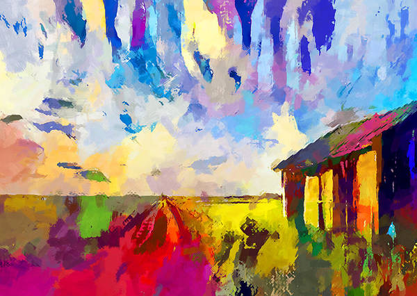Wall Art - Painting - Barn by Chris Butler