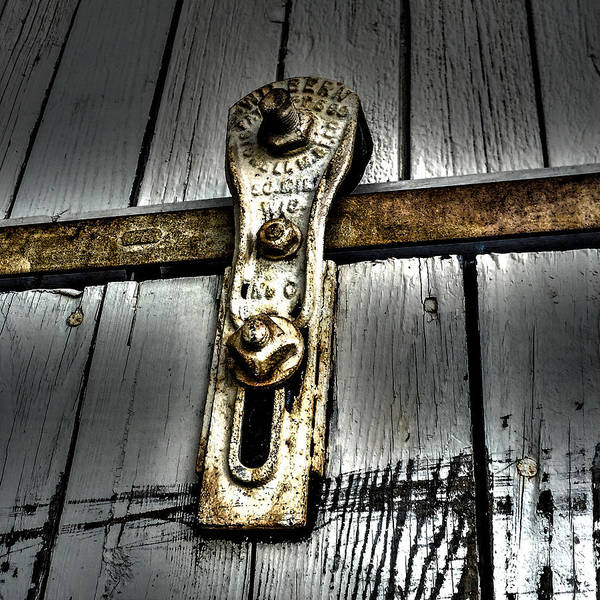 Photograph - Barn Door Pulley by William Norton