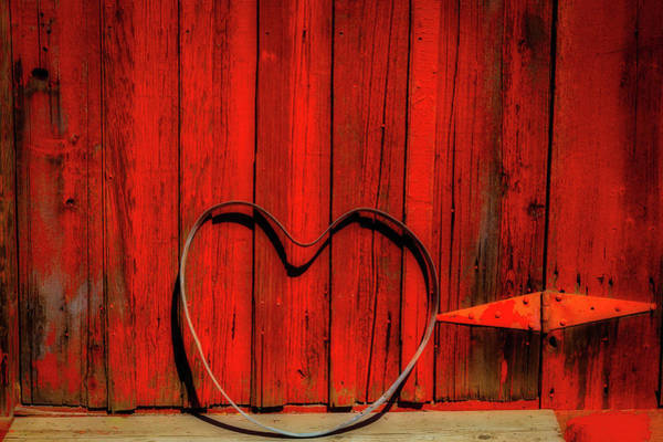 Wall Art - Photograph - Barn Door With Heart by Garry Gay