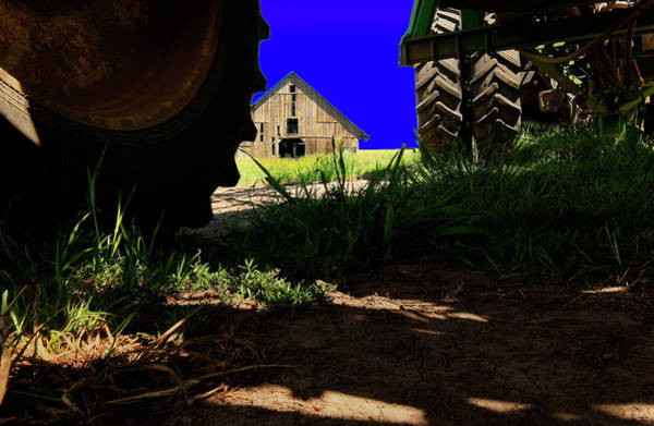 Photograph - Barn From Under The Equipment by Bob Cournoyer