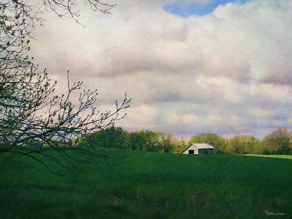 Photograph - Barn In Early Spring Kansas Countryside by Anna Louise