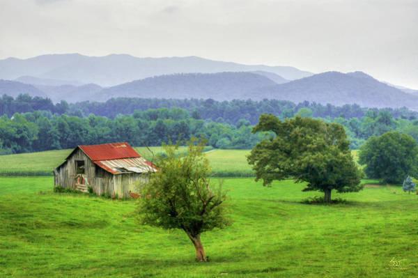 Photograph - Barn In Smokies 2 by Sam Davis Johnson