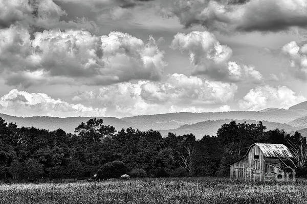 Photograph - Barn Mountains And Sky by Thomas R Fletcher