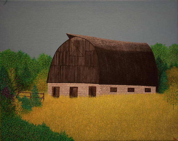 Wall Art - Painting - Barn Mustard Plants by Gerald Wellington