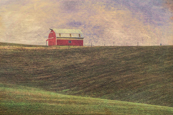 Wall Art - Photograph - Barn On A Hill by Bonnie Bruno