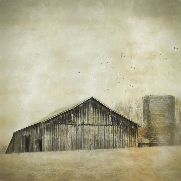 Wall Art - Photograph - Barn On The Hill by Kathy Jennings